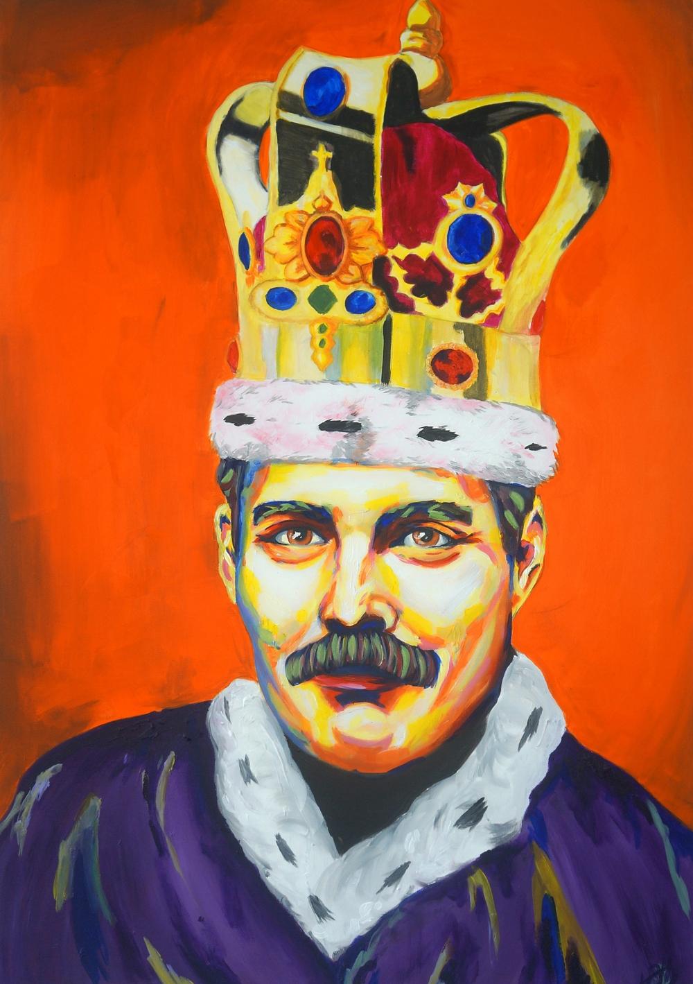 Freddie Mercury (70 cm x 100 cm) - 7.200,- DKK