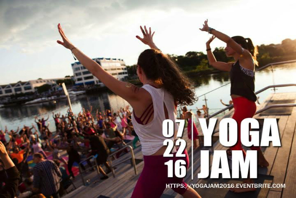 Join  Lululemon   Athletica Greenwich ,  Exhale   Spa Stamford ,  Megan Kuczynski  and  Aimee Elsner  on the Harbor Point Boardwalk in Stamford.  Friday Night Jam on July 22nd at 6PM.  Photo by: Lululemon Athletica Greenwich