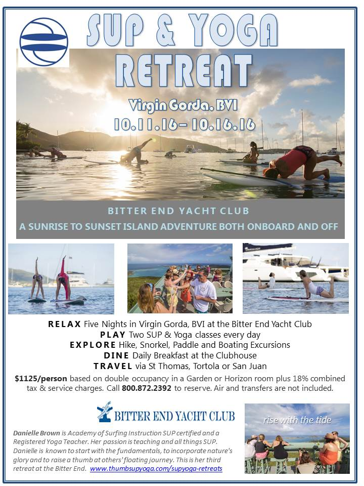 SUP & Yoga Retreat to the Bitter End Yacht Club