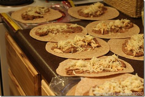 Assembling enchiladas