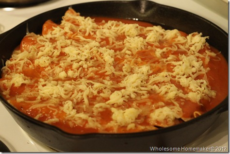 Enchiladas before cooking