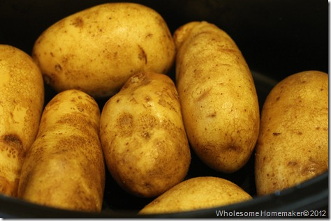 Potatoes in crock pot