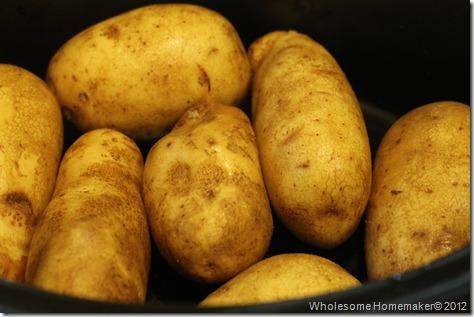 Potatoes in crock pot