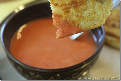 Grilled cheese and tomato soup