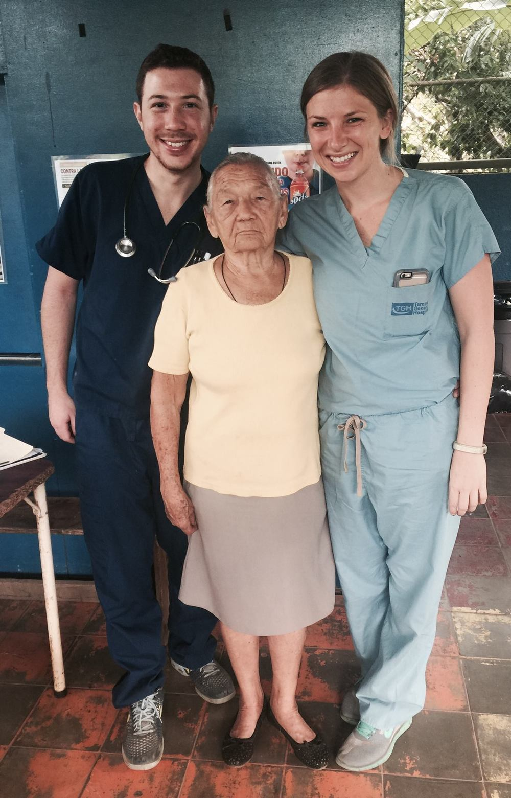 Thanks to our partnership with USF Health, Doña Pia receives reliable medical care and medication supply year round.