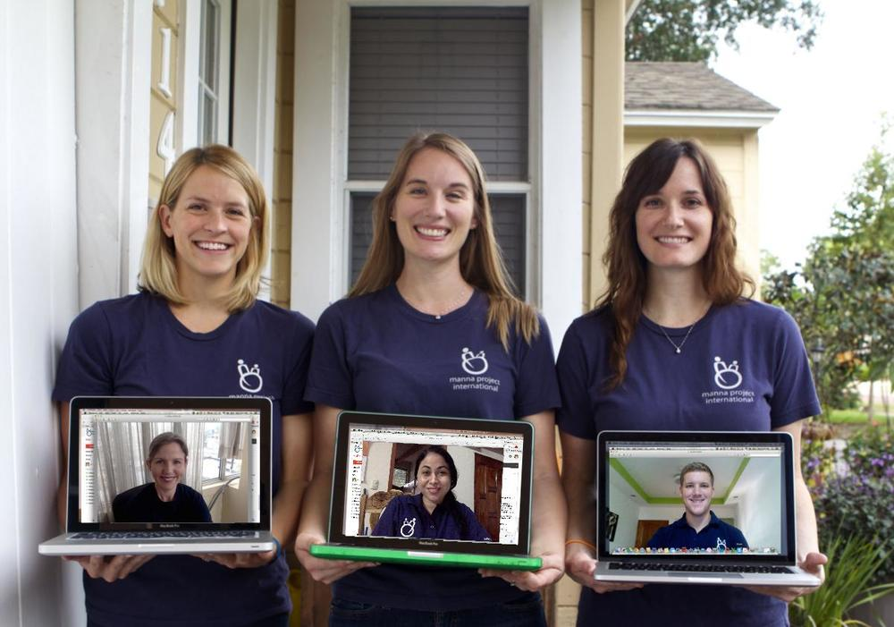 With a little help from Skype, MPI's staff got together to ask for your help on #GivingTuesday! Left to right: Haleigh Smith,Lori Scharffenberg, &Meghan Brennan in Florida; Nancy Shattuck in Ecuador;and Christina Palazzo &Austin Fowler in Nicaragua