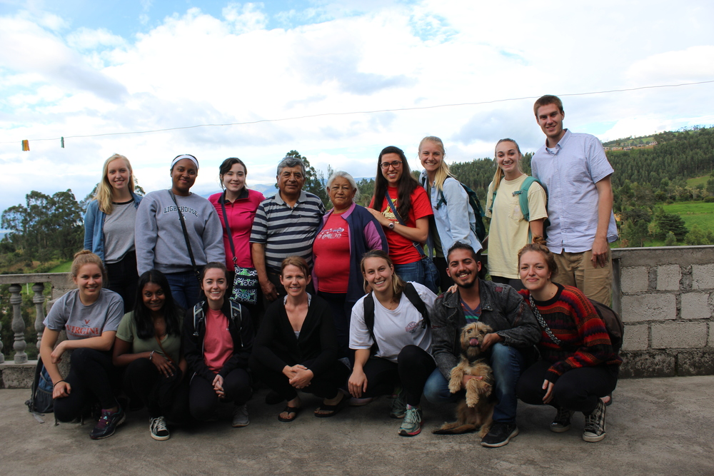 Program Directors and Summer Interns at Clemencia's home in Amaguaña, Ecuador.