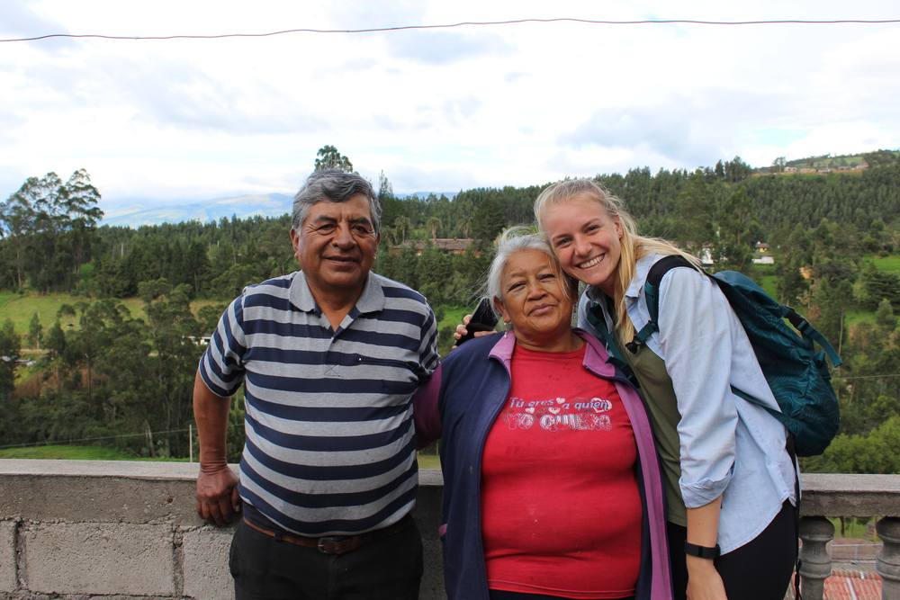 Summer Intern Lindsay at Clemencia's home in Amaguaña, Ecuador.