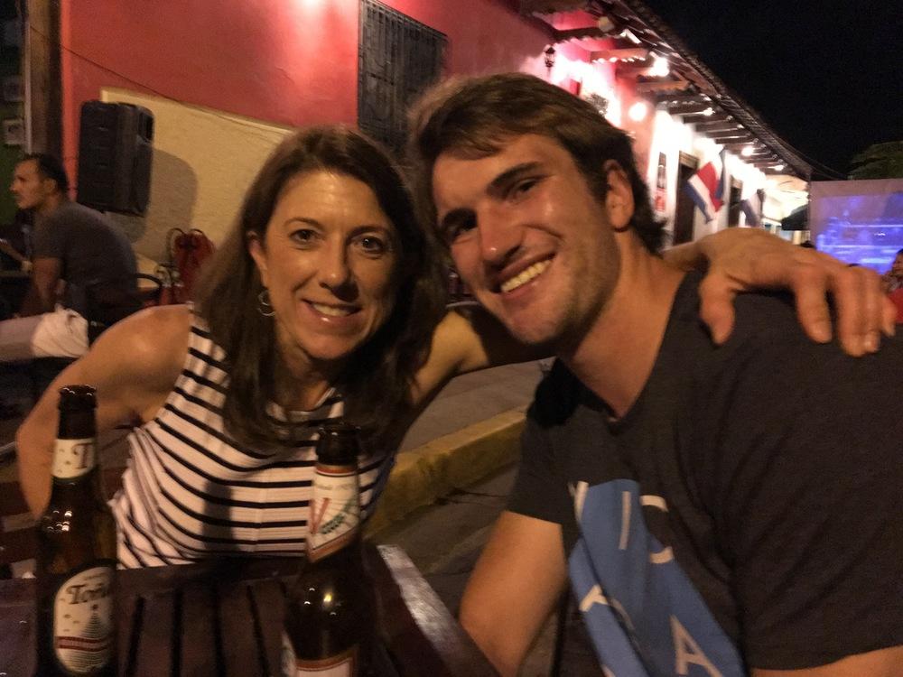 Liz with Dan in Nicaragua
