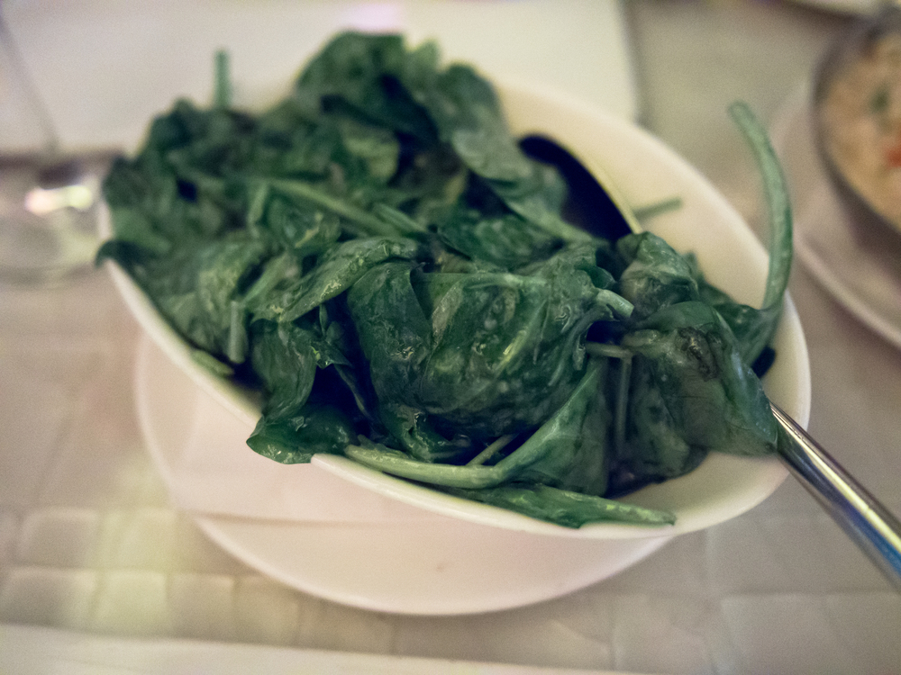 truffled spinach.