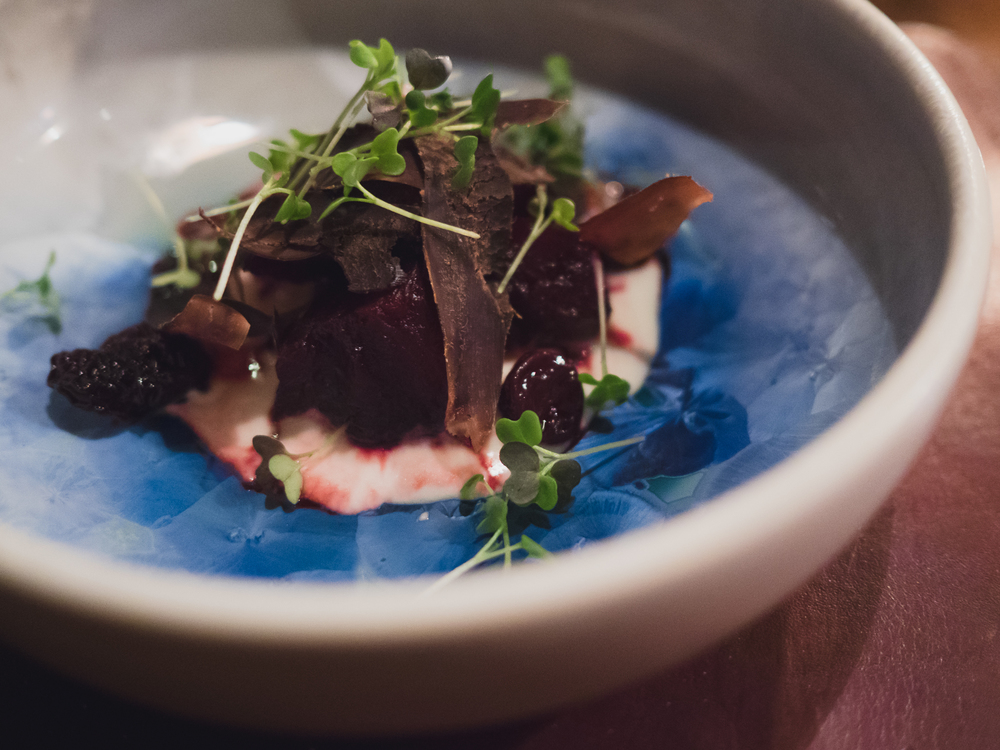 03. beetroot, cherries and dried guillemot.