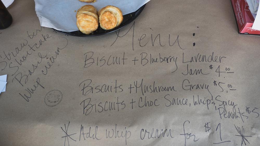 the menu at  good gravy bakes .