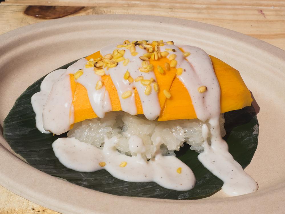 mango stick rice from  sticky rice .