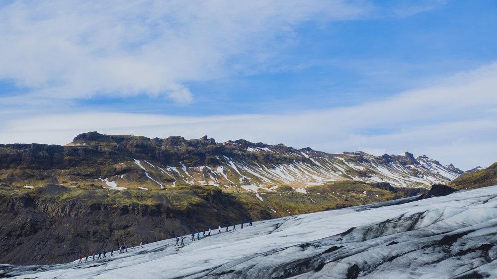 glacier hike on solheimajokull.