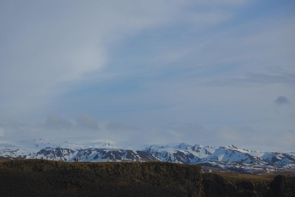 cliffs near vik.