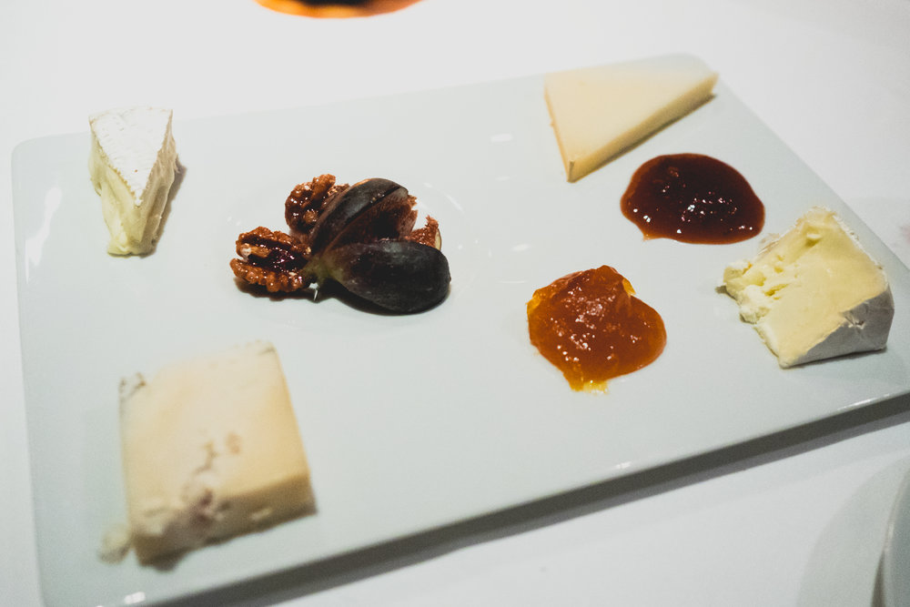 artisanal cheese with seasonal accompaniments.