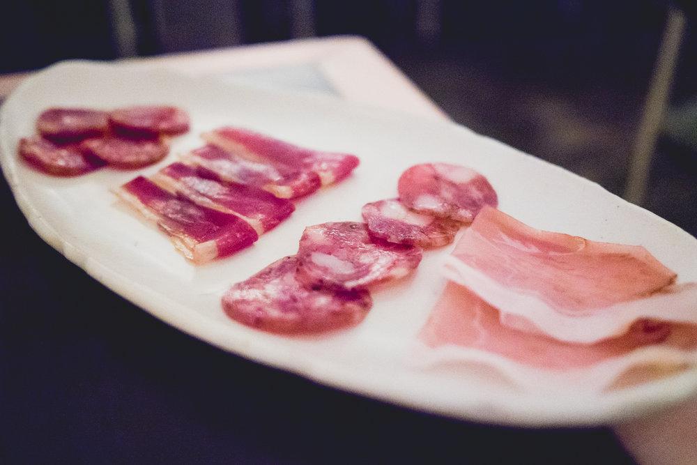 chorizo, duck speck, toscano, blackstrap ham.