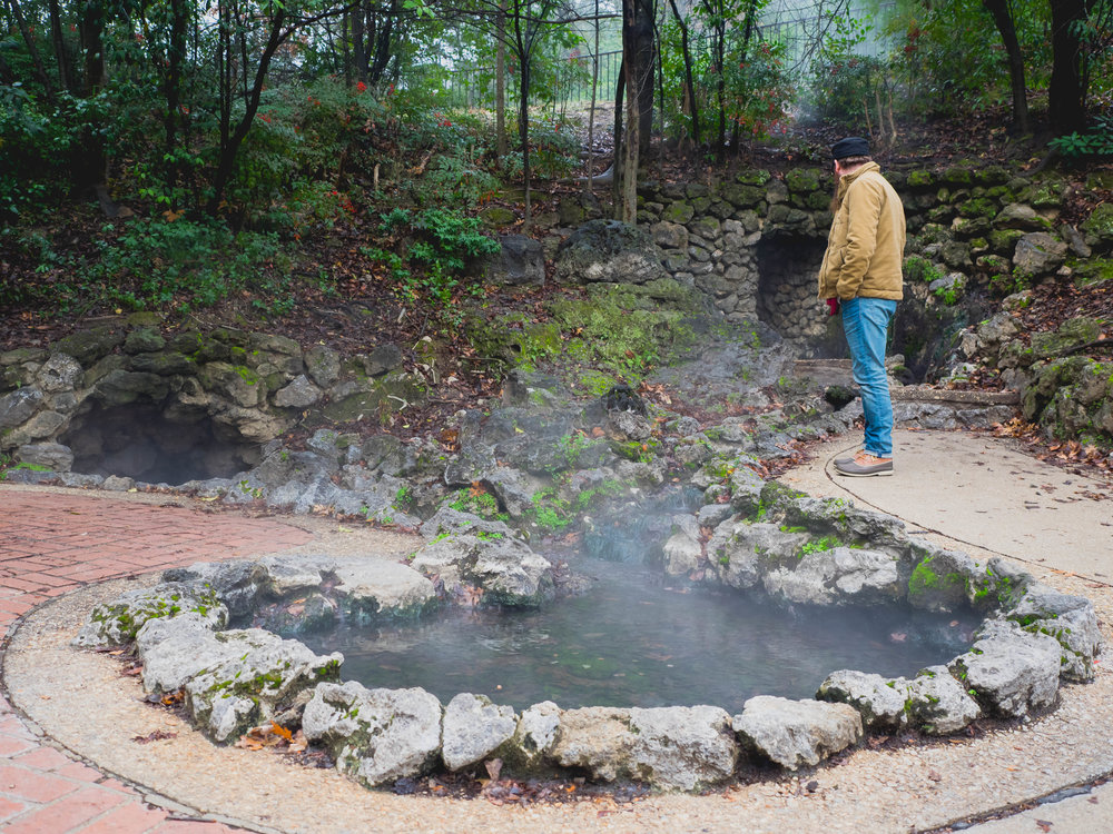 "a ""display"" hot spring."