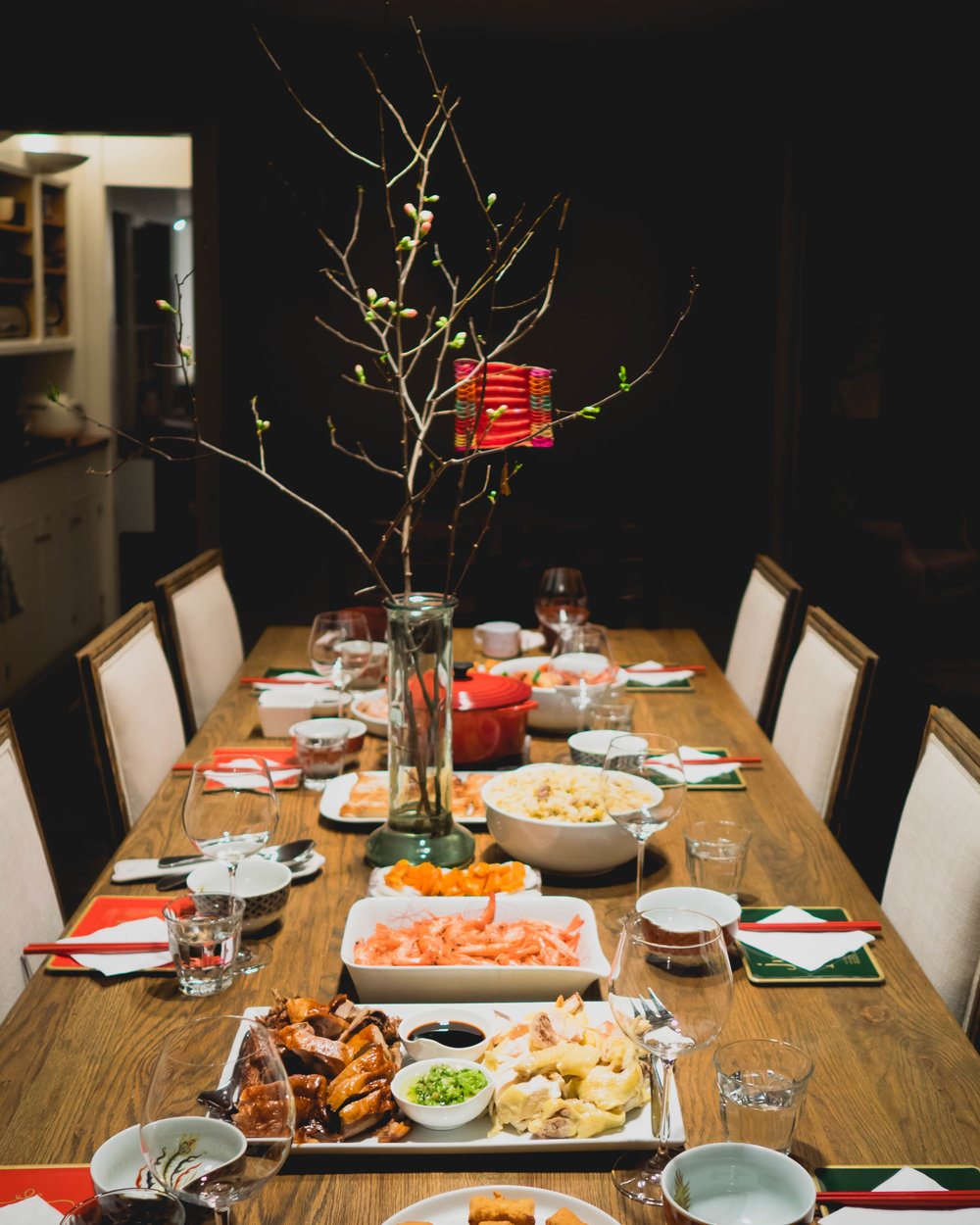 lunar new year's family feast.