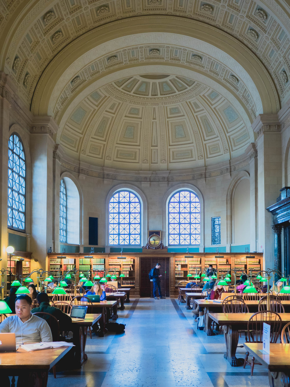 bates hall, boston public library.