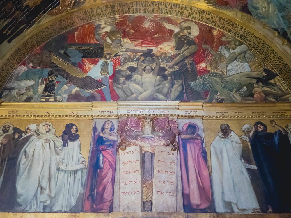 john singer sargent's triumph of religion, boston public library.