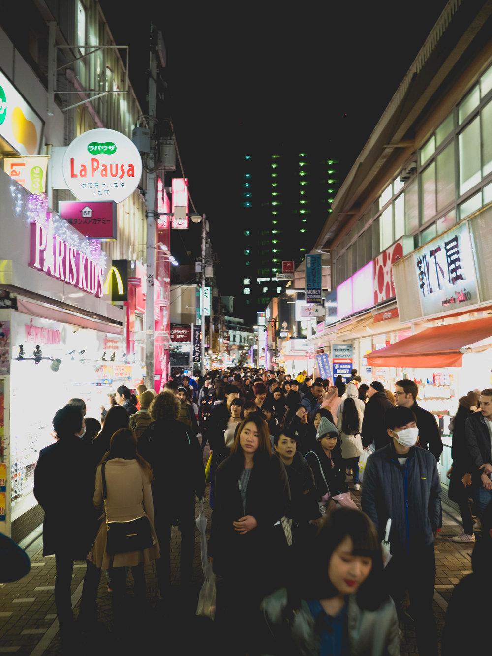 harajuku crowds.