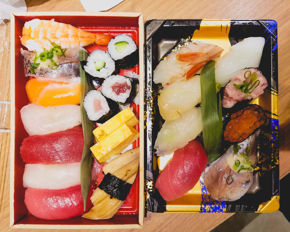 supermarket sushi.