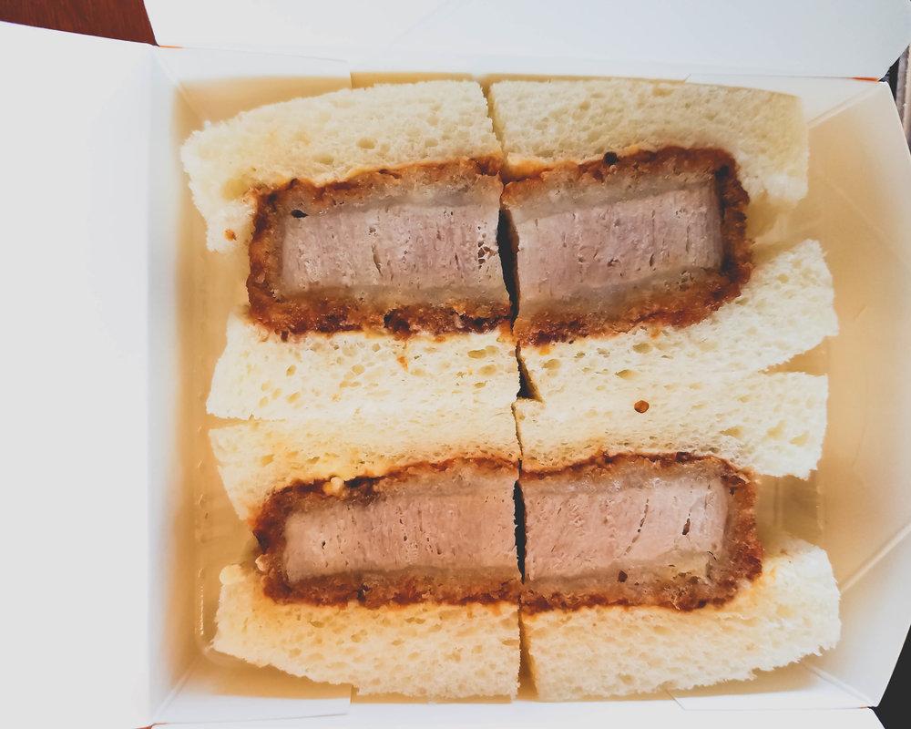 train car tonkatsu sandwiches.