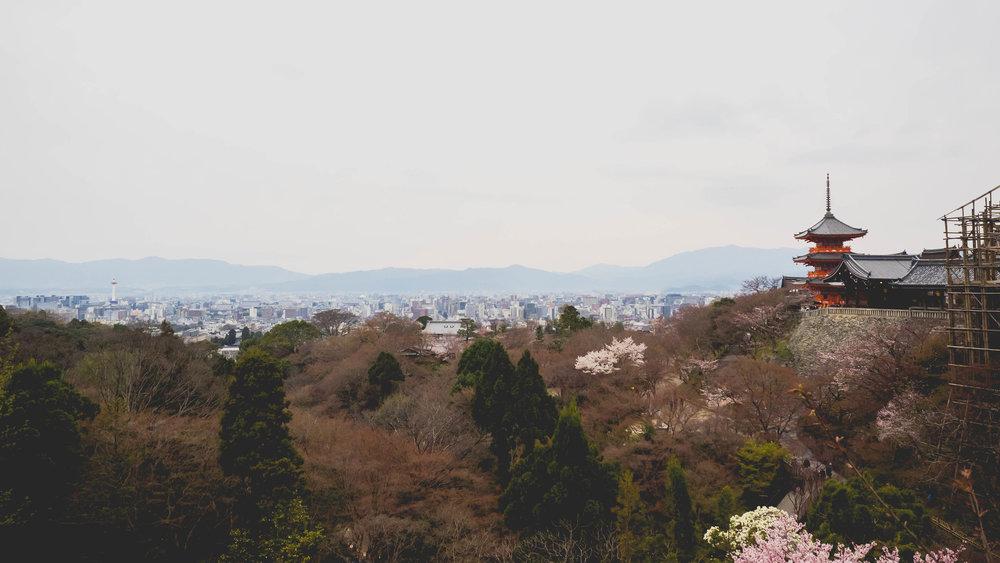 view of tokyo from kyomizudera.
