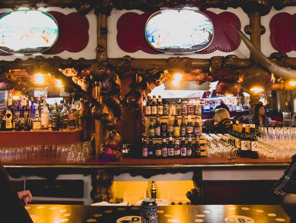 inside the million dollar cowboy bar.
