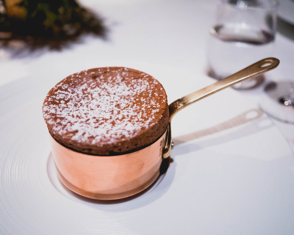 chocolate souffle .