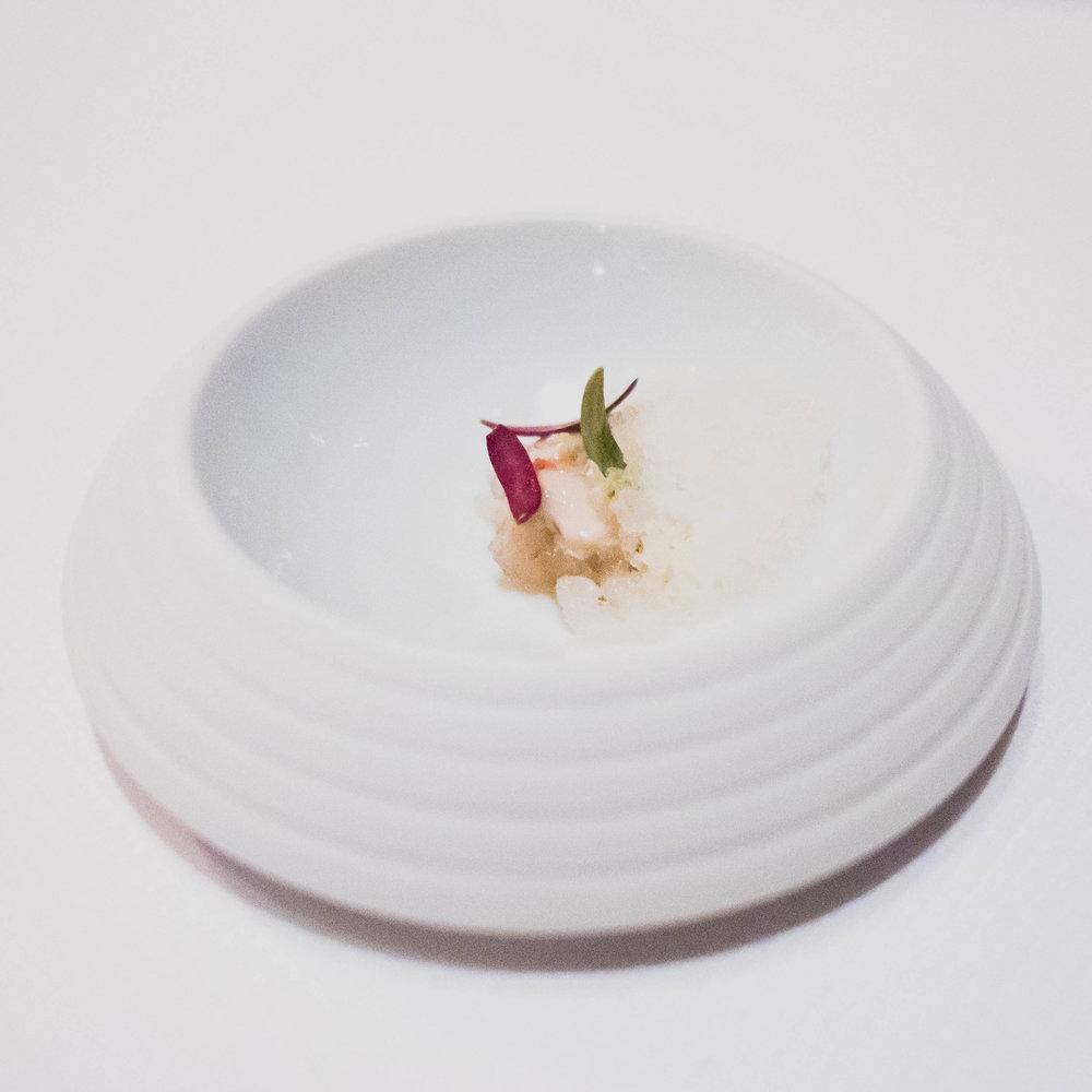 kumamoto oyster , fennel, horseradish, vermouth.