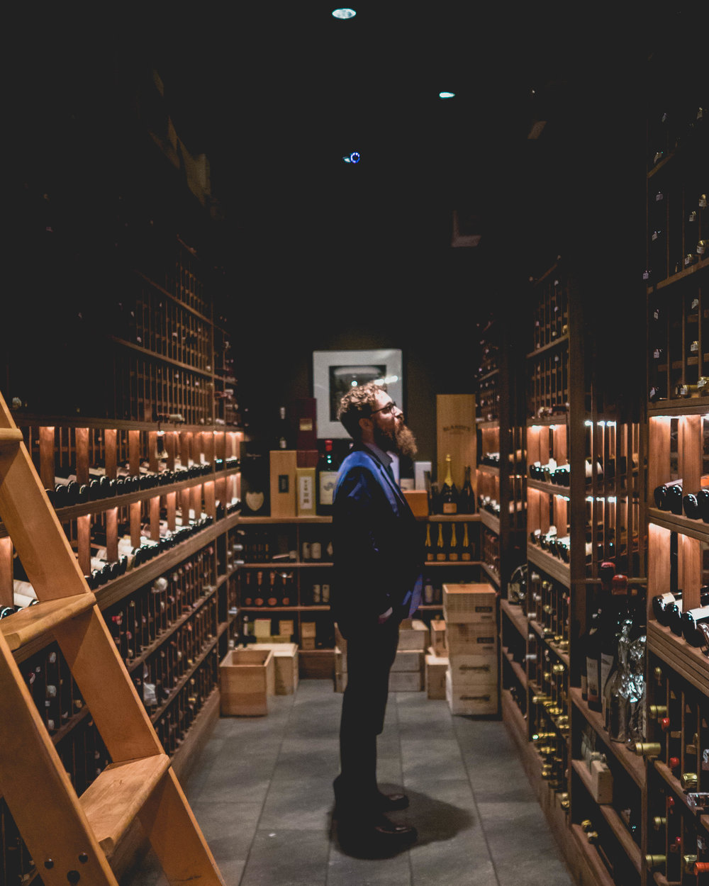 james in the wine cellar.
