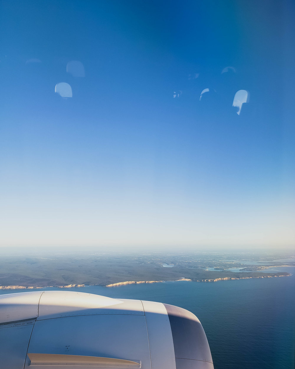 my first view of australia from the plane.