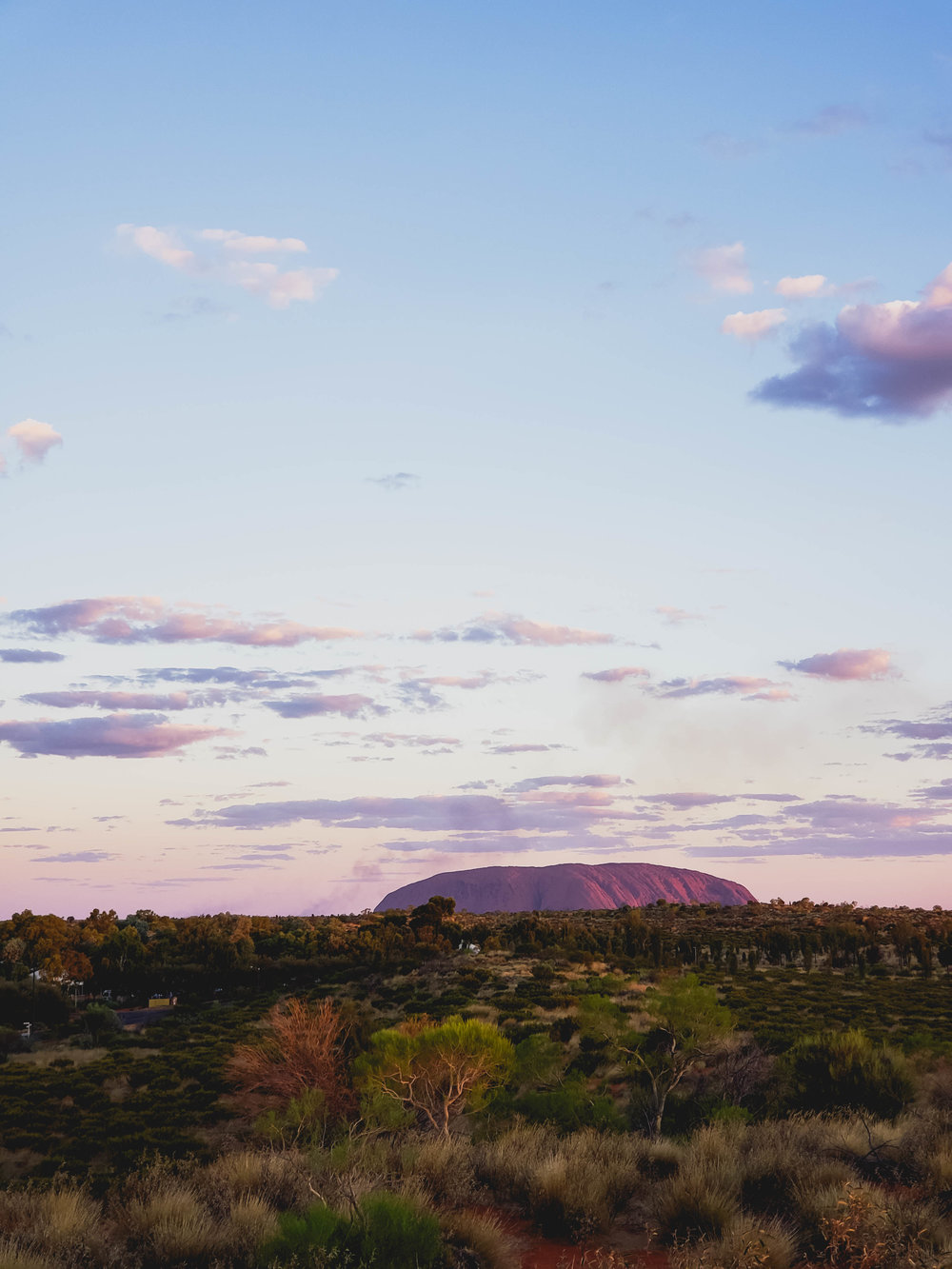 our first view of uluru.