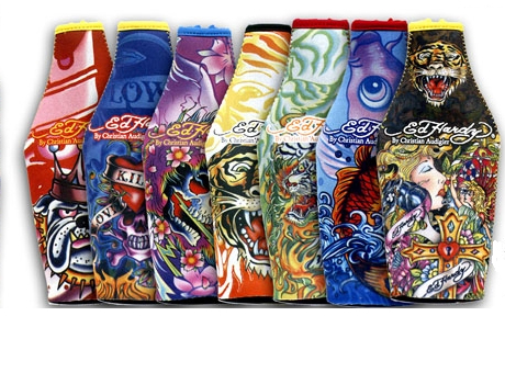 Ed Hardy Bottle Koozie- 12 per strip