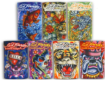 Ed Hardy Can Koozie- 12 per strip