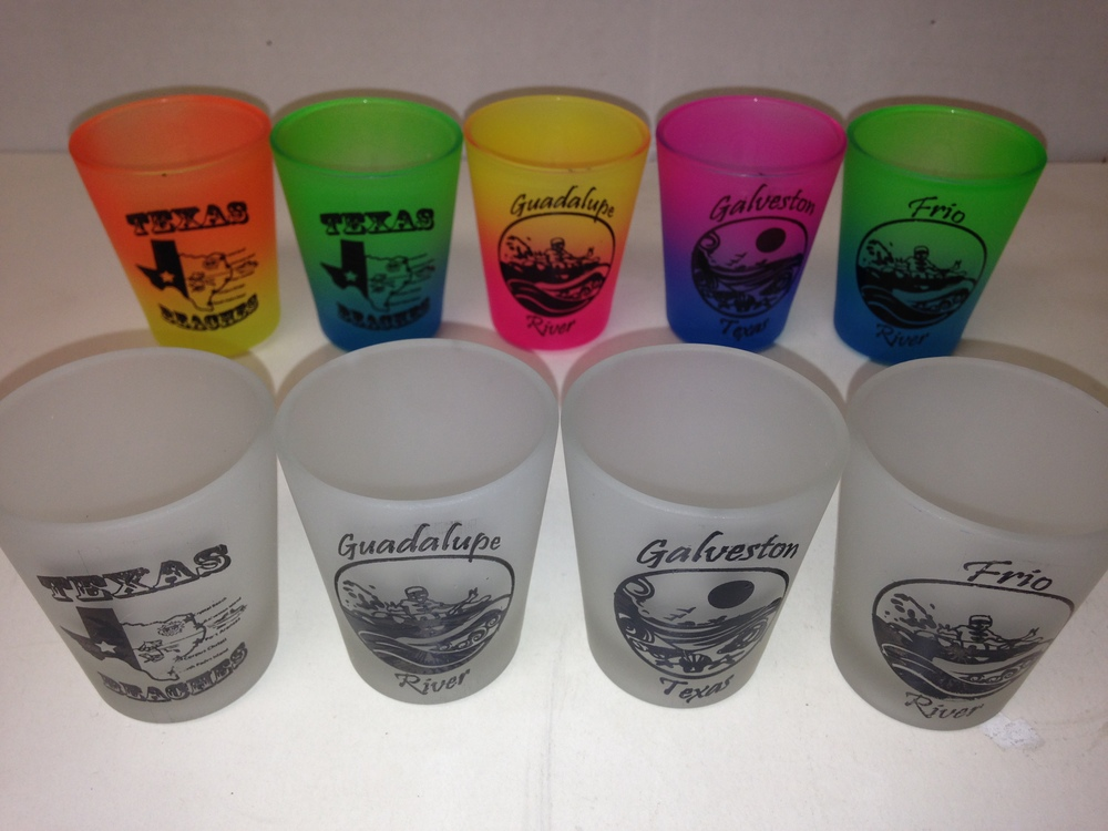 Shot Glasses : Frosted (Rivers)