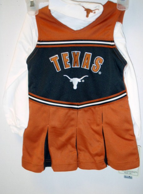LONGHORNS: CHEER SET GIRL'S ASSORTED 3 STYLES LIMITED QUANTITIES AVAILABLE