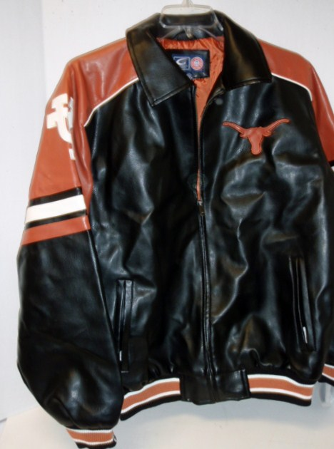 Longhorn: Black VARSITY STYLE JACKET (ADIULT & YOUTH) VERYLIMITED QUANTITIES AVAILABLE
