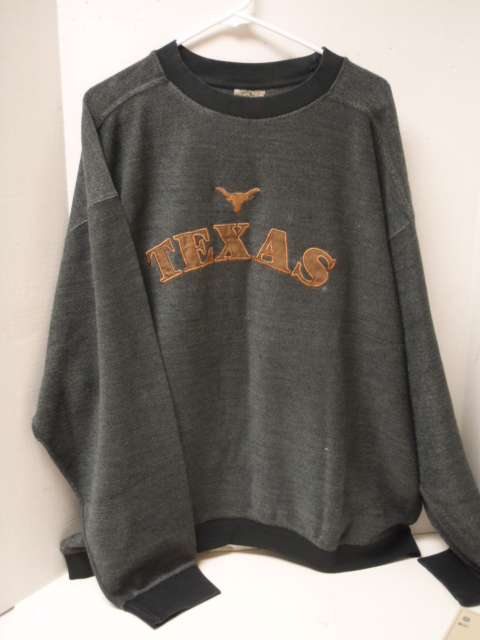 LONGHORNS: SWEATER GRAY-MENS LIMITED QUANTITIES AVAILABLE