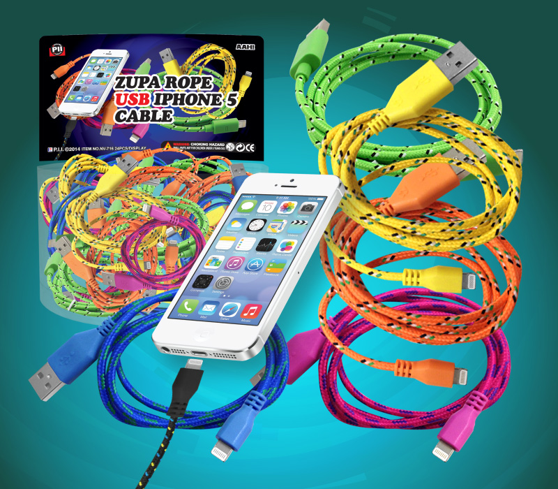 I-Phone 5 & 6 charger cords - 24 per display