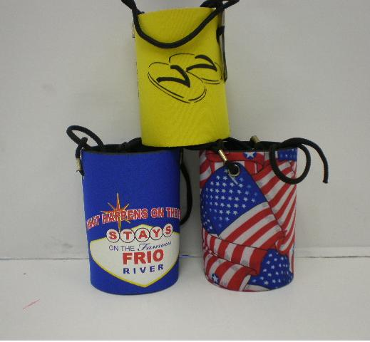 assorted hanging koozies