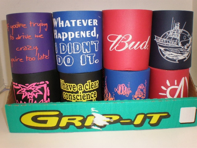 assorted foam koozies - 100 per case