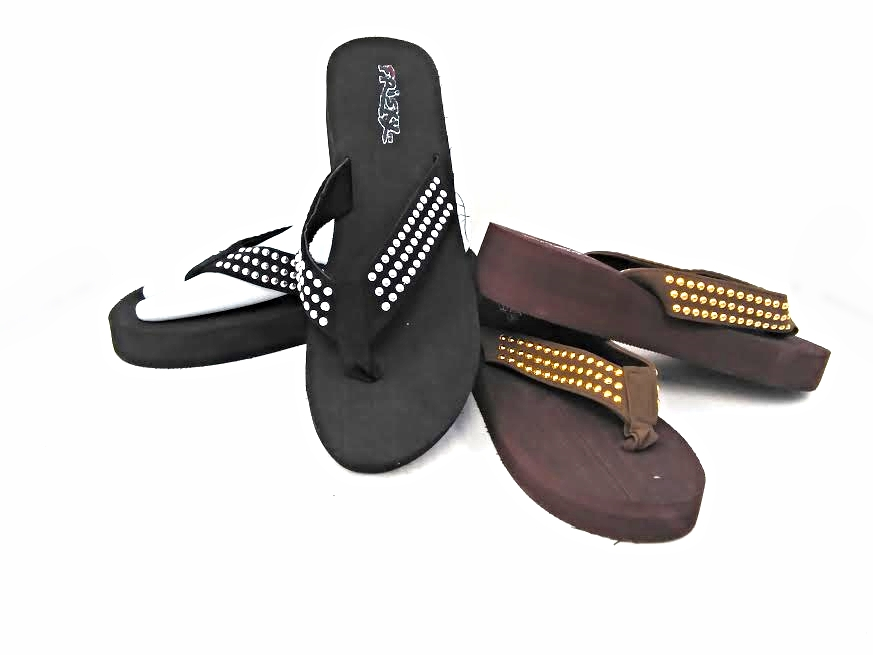 FLIP FLOP : WOMEN'S FRISKY #904713 COLORS Brown and Black ORDER BY SIZE (24/CASE) OR BY MUSICAL RUN IN BOTH COLORS  SIZES 5-10