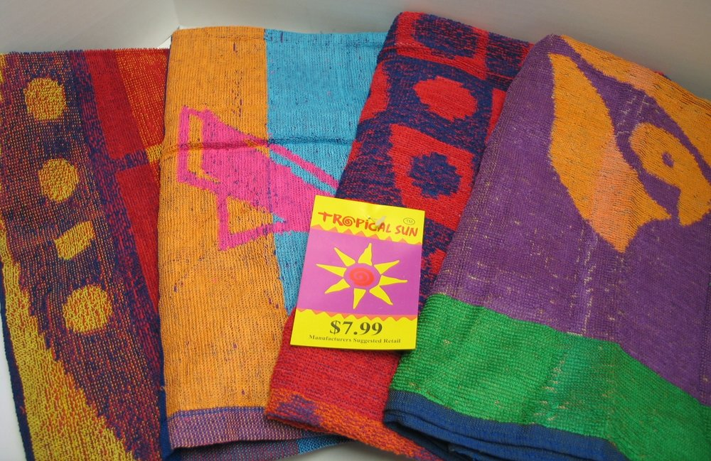 Jacard Towels - ALL ASST. Some are Pre-pRiced