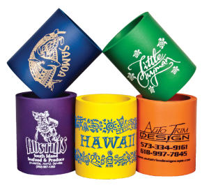Foam Koozies : 300 Minimum $1.00 One Color, One or Two Sided Print Included