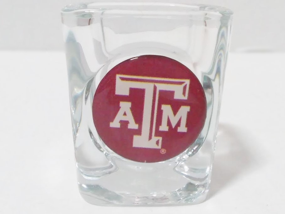 TEXAS A&m SHOT GLASS 2 OZ