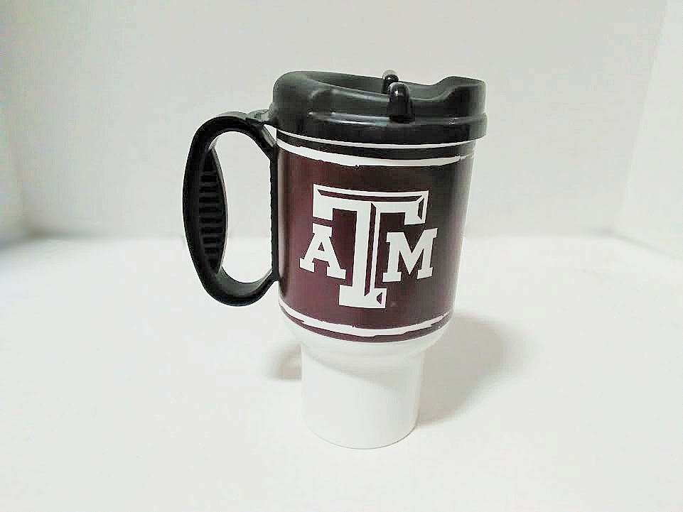 TEXAS A&M PLASTIC TRAVEL MUG