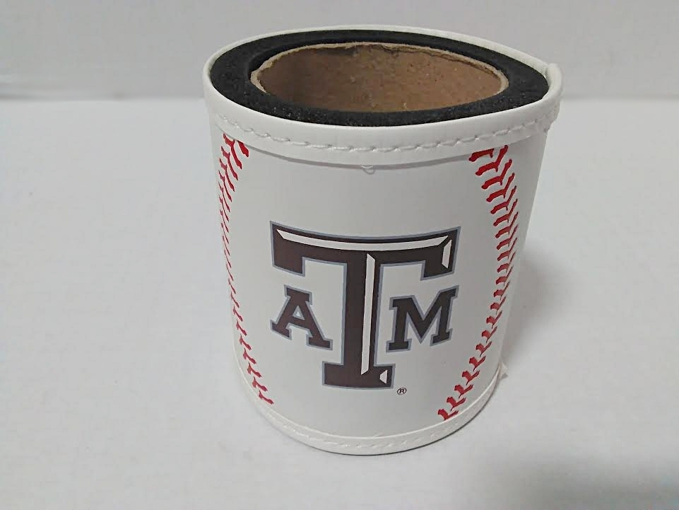 TEXAS A&M BASEBALL LEATHER LIKE KOOZIE